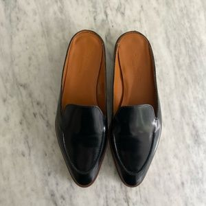 Everlane the modern loafer mule black leather flat